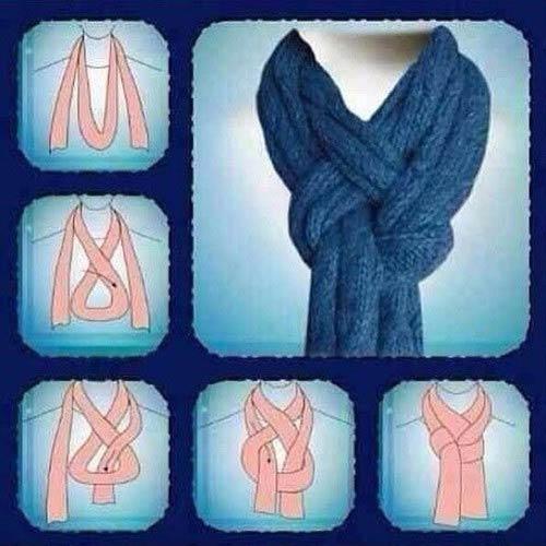 завязать шарф разными способами