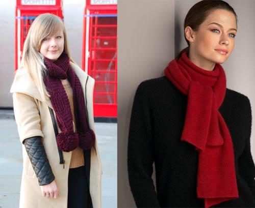 как завязать шарф поверх пальто