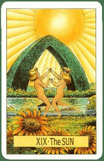 Карта ТАРО № 19 - Солнце