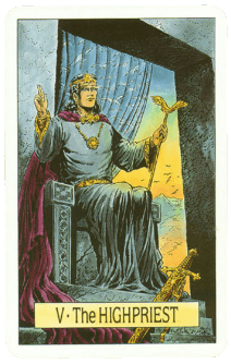Карта ТАРО № 5 - Верховный Жрец