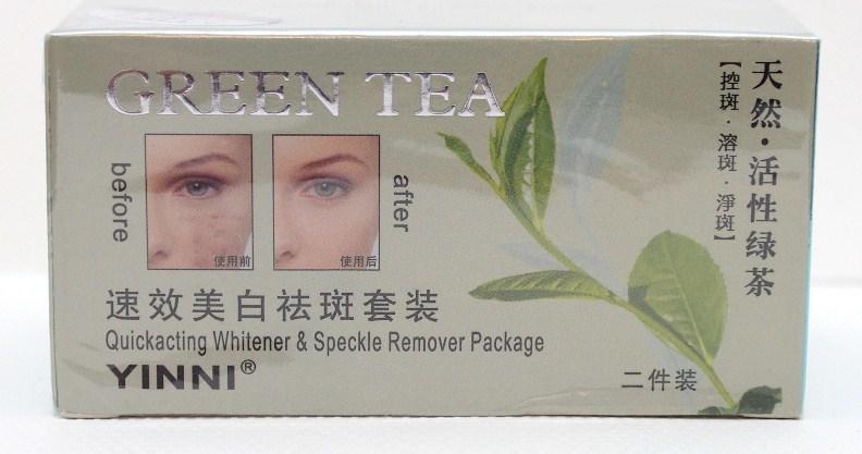 Крем отбеливающий для лица с экстрактом зеленого чая