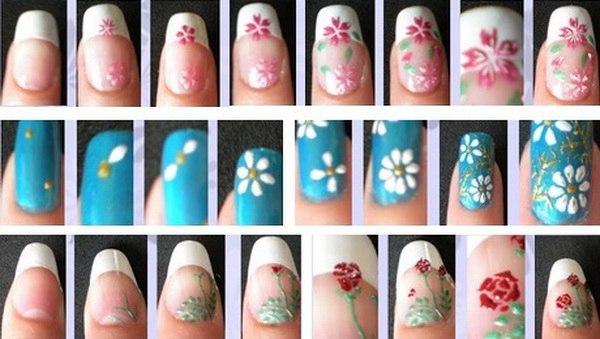 Схема рисунков на ногтях