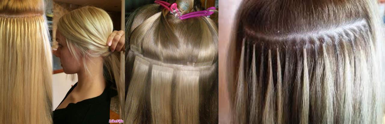 Фото: Наращивание волос до и после