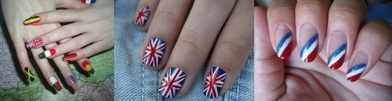 Флаги на ногтях, узоры, маникюр