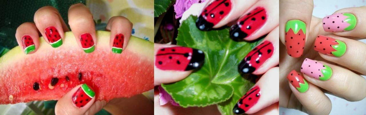 Простые рисунки на ногтях для летнего маникюра