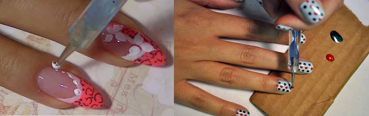Узоры дотсом на ногтях