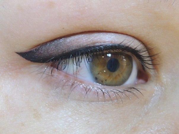 Фото: Растушевка глаз (век)