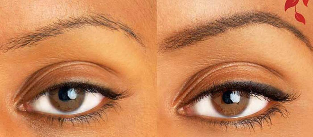 Фото: Татуаж глаз до и после