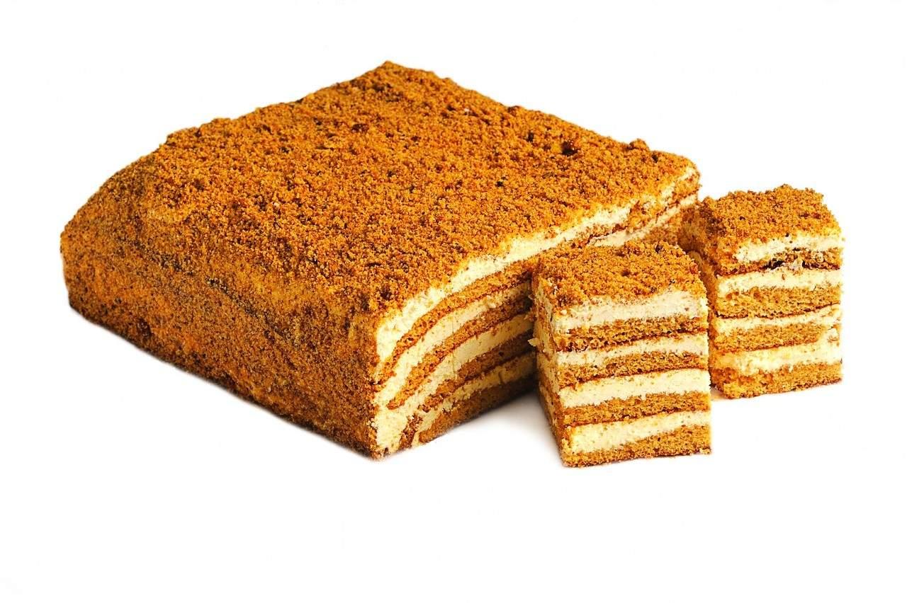 Торт из печенья со сметаной без выпечки