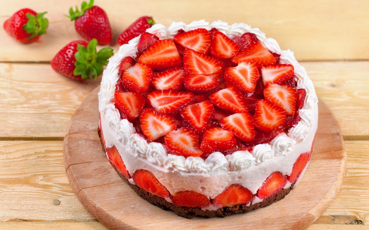 Торт с клубники фото