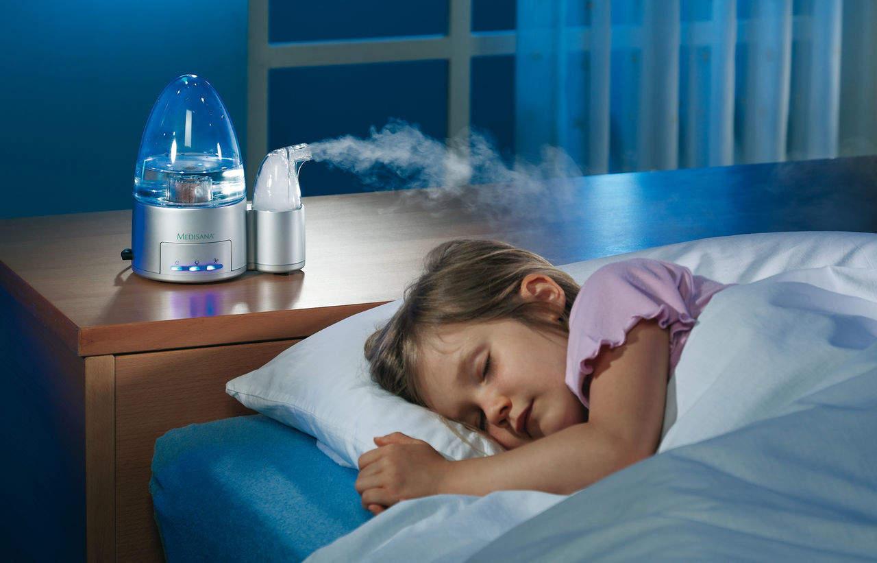 Увлажнение воздуха при насморке у ребенка