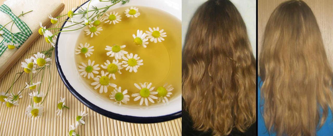 Как осветлить волосы с помощью ромашки и лимона