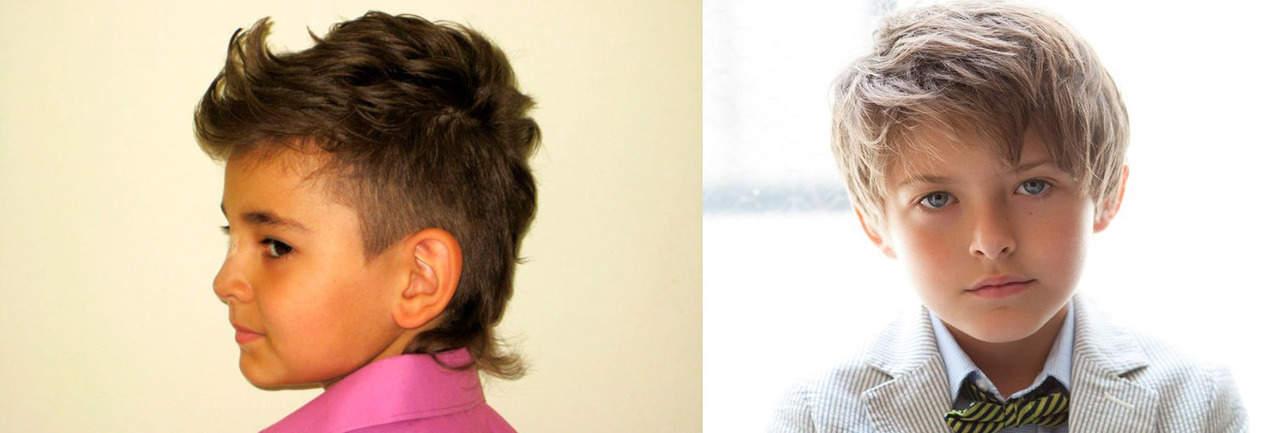 Стрижка для мальчика на прямые и вьющиеся волосы