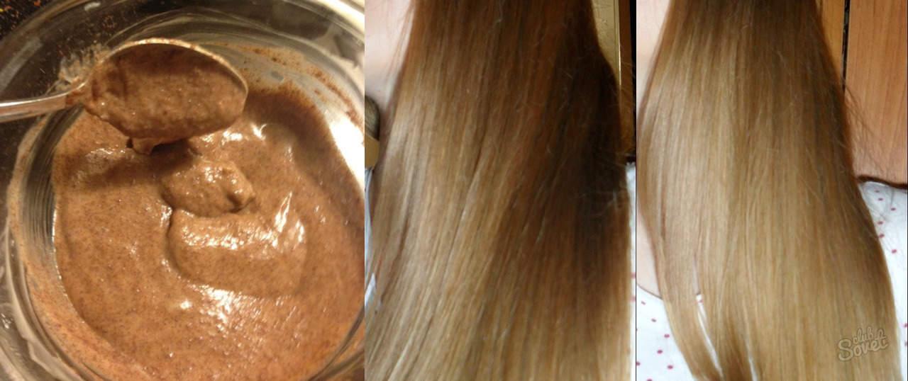 Осветление волос корицей до и после
