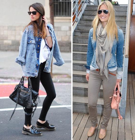 Что одевать с джинсовой курткой