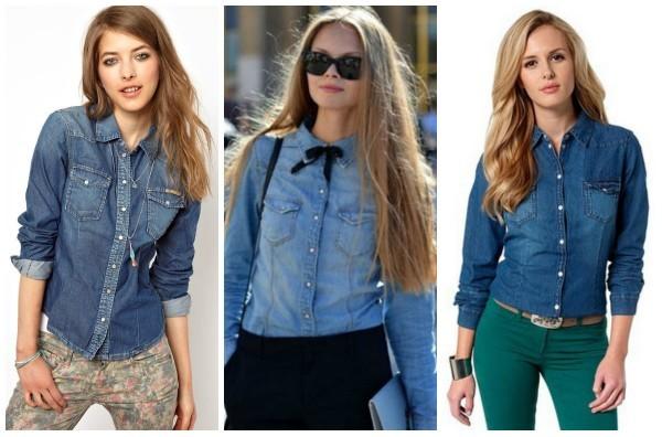 Женские джинсовые рубашки