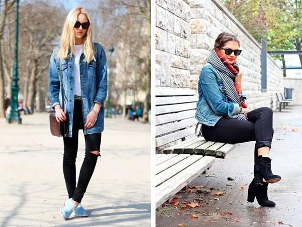 Джинсовая куртка с джинсами