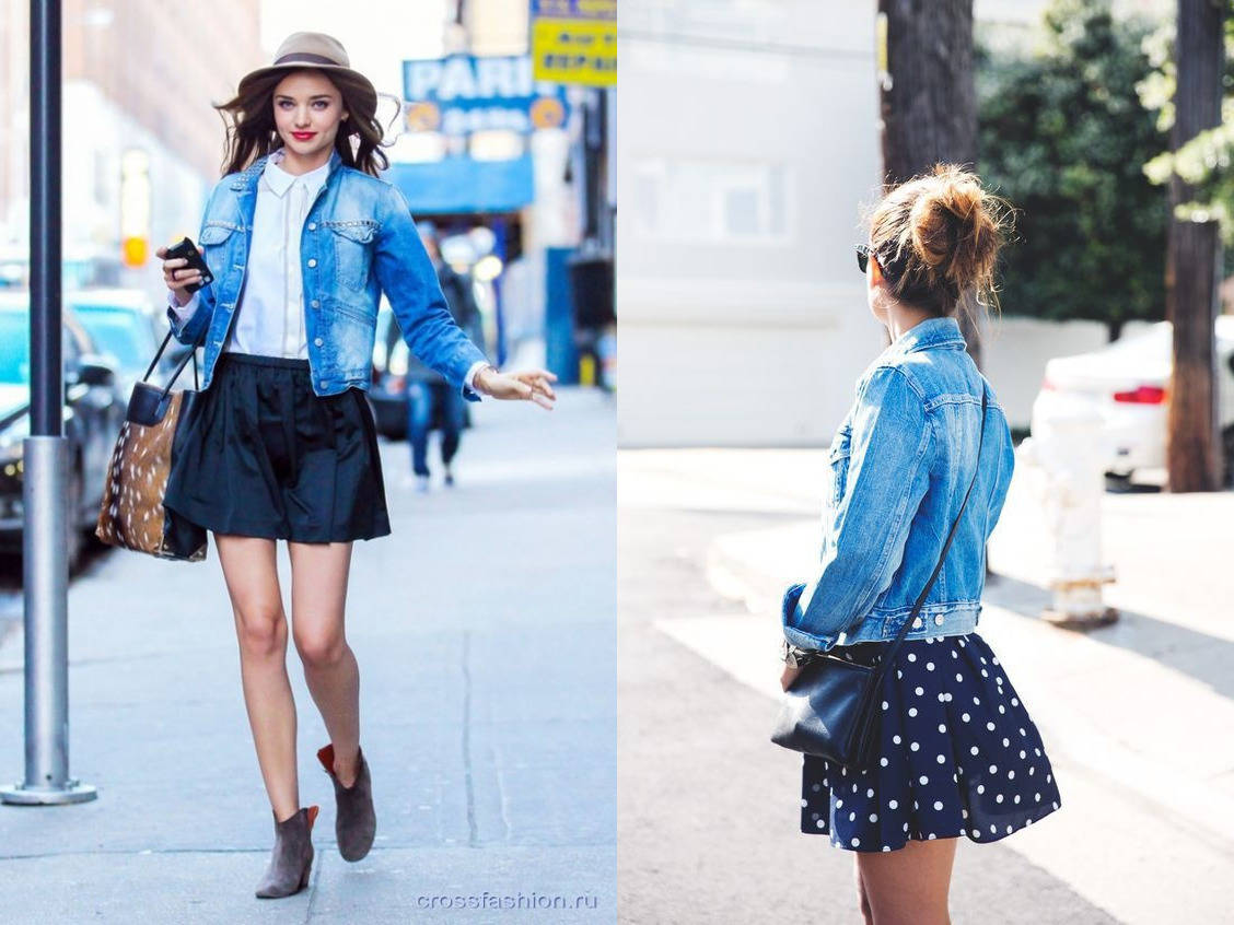Джинсовая юбка футболка куртка