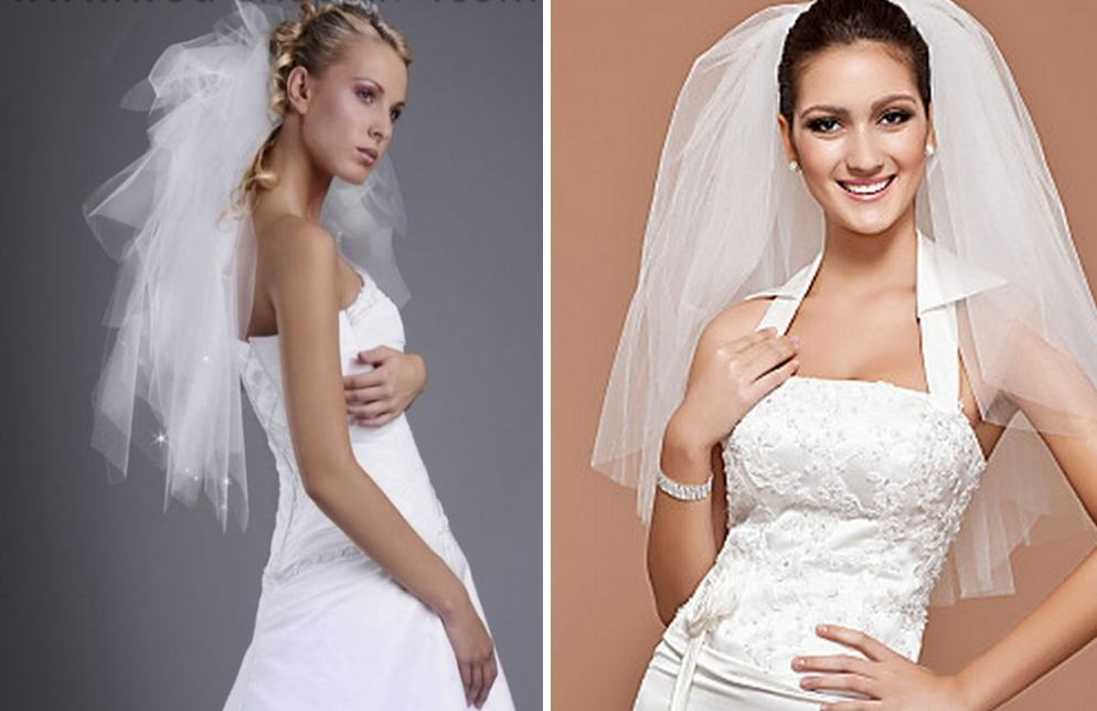 Свадебная фата пышная