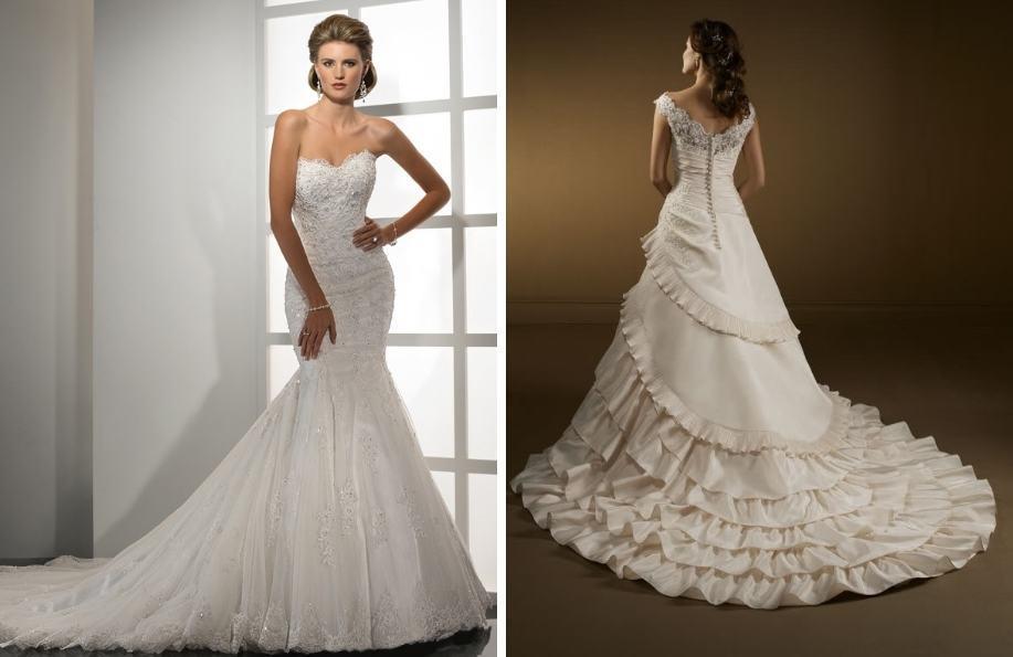 Свадебное платье-годе