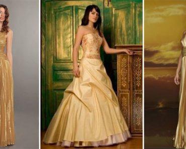 Золотое платье. Синее, белое, черное платье с золотым принтом (рисунком золотого цвета). Фото