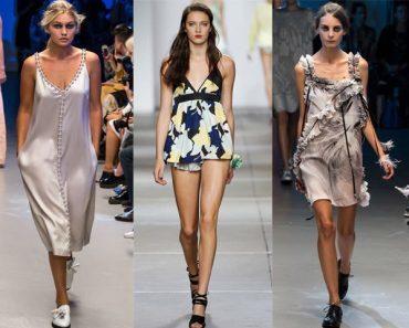 Бельевой стиль. Фото: платье-комбинация, майка, топ с кружевами, и с чем их носить