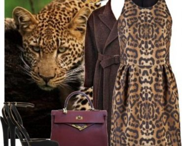 Леопардовое платье с принтом, длинное в пол и короткое. С чем его носить. Фото