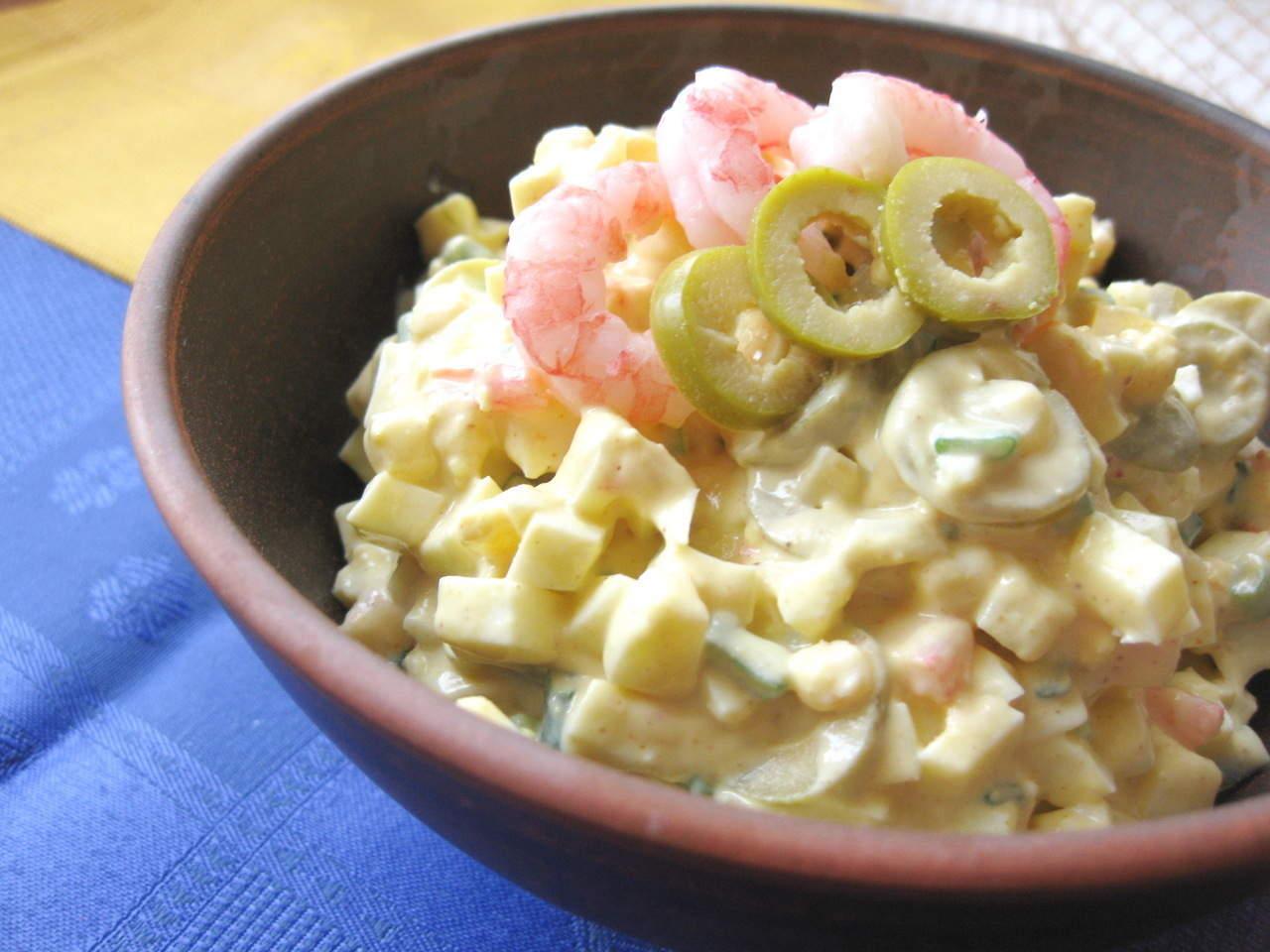 Салат с креветками, рецепт