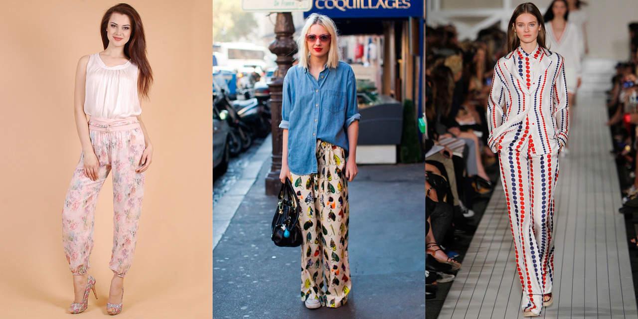 Пижамные брюки в бельевом стиле