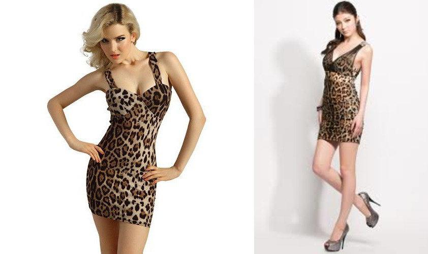 Леопардовое платье мини