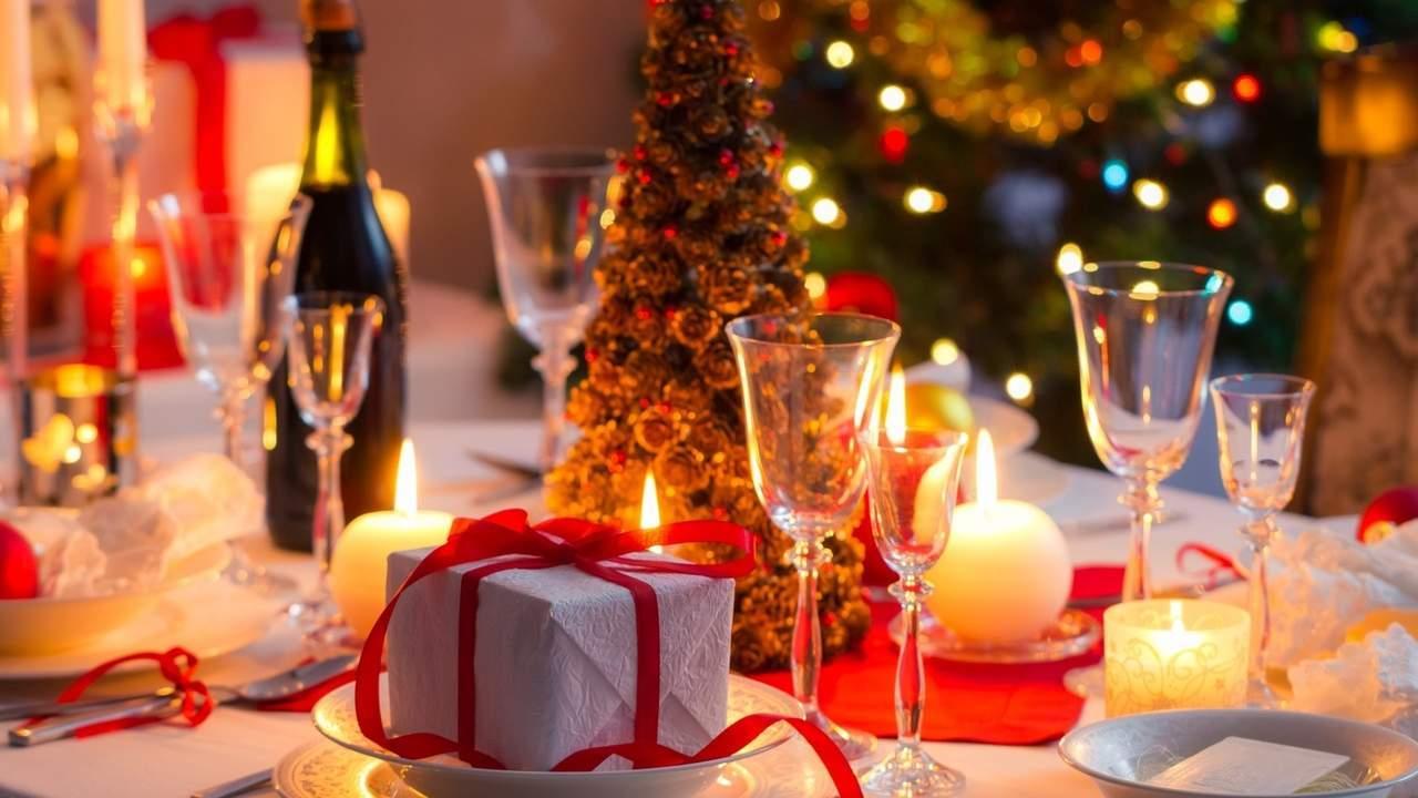 Новогодний стол, как встретить год петуха