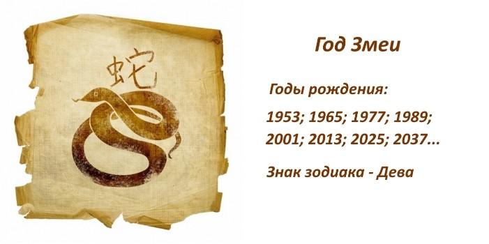 Змея по восточному гороскопу — характеристика знака