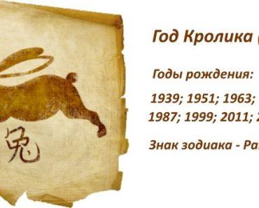 Знак Кролик (Кот, Заяц) - характеристика человека (мужчины и женщины), рожденных в год Кролика. Восточный гороскоп
