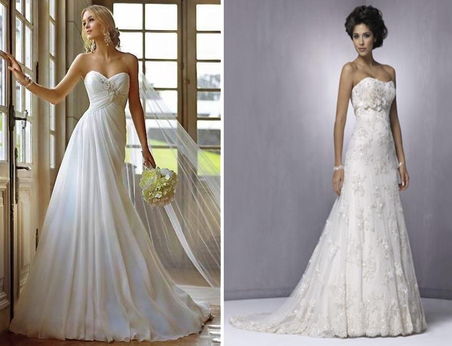 Белое свадебное платье. Цвета свадебных платьев