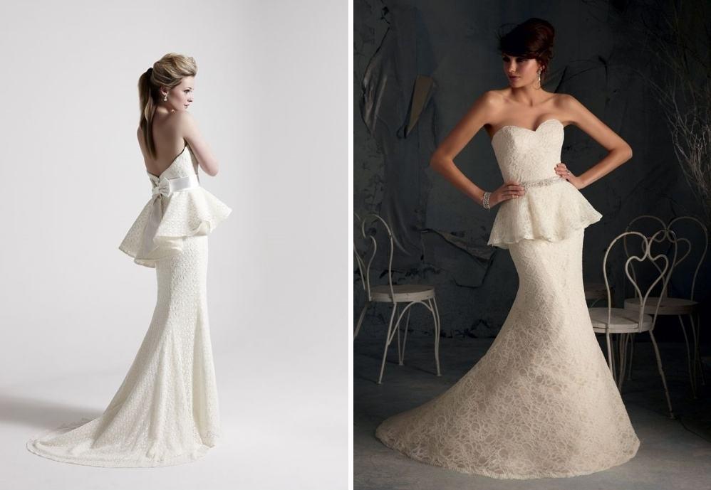 Свадебное платье годе с баской