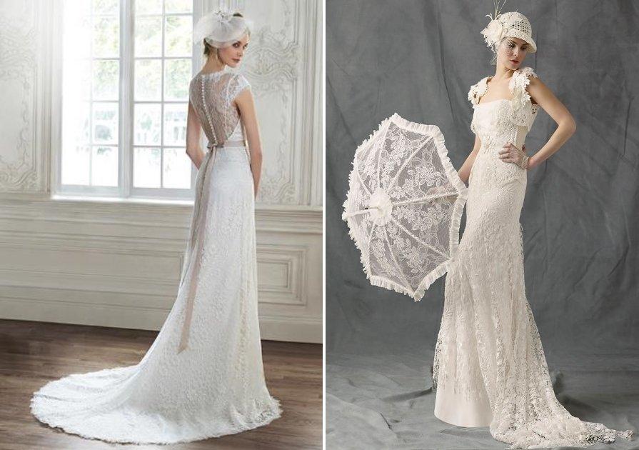 Свадебное платье годе в стиле ретро