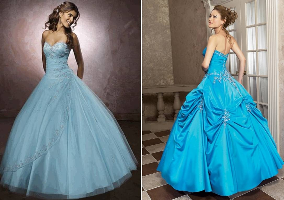 Голубое свадебное платье. Цвета свадебных платьев