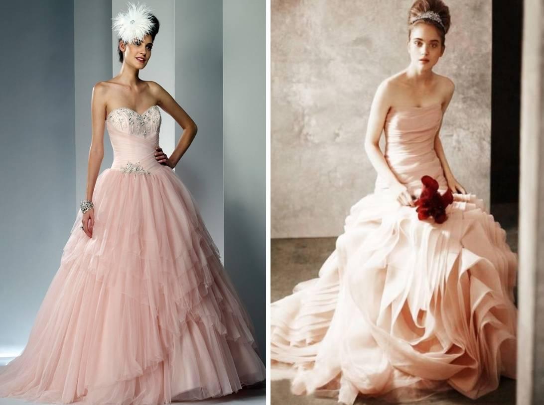 Кремовое свадебное платье. Цвета свадебных платьев