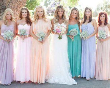 Цвета свадебных платьев - фото. Цвет айвори, голубой, синий, кремовый, золотой, красный, черный, белый, розовый