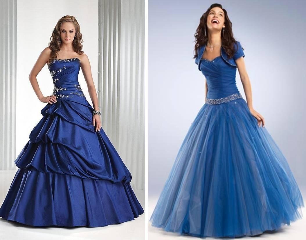 Синее свадебное платье. Цвета свадебных платьев
