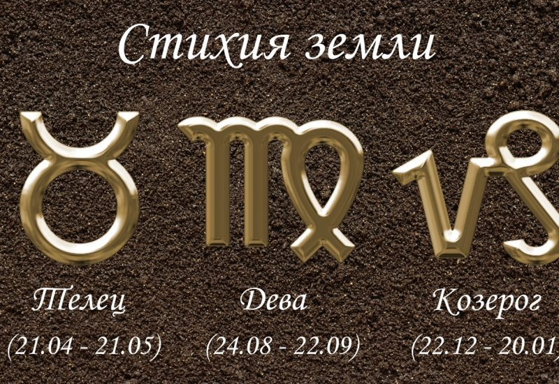 Земные знаки зодиака