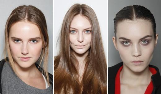 Прямой пробор волос