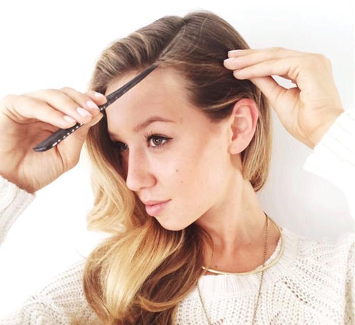 Пробор волос. Как сделать пробор на длинные и короткие волосы, фото видео