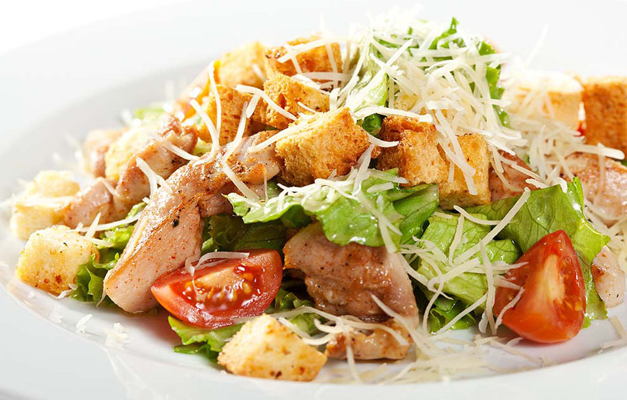 Цезарь салат с курицей фото