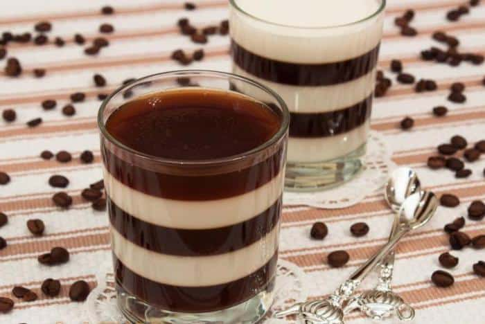 Молочно-кофейное желе в домашних условиях