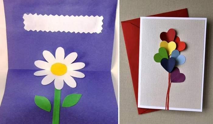 Поздравления новым, открытки с 8 марта в детском саду своими руками