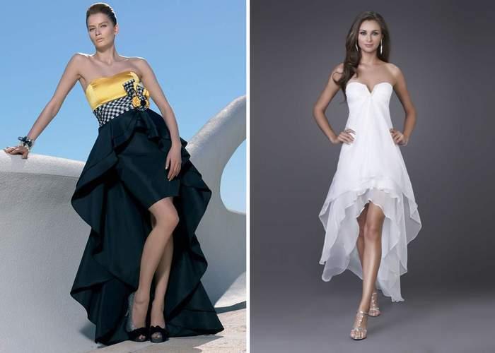 Платье годе с асимметричной юбкой