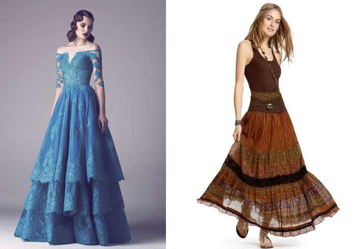 Платье годе ярусами