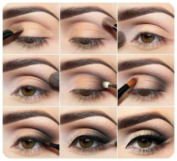 Как накрасить глаза тенями - пошаговая инструкция