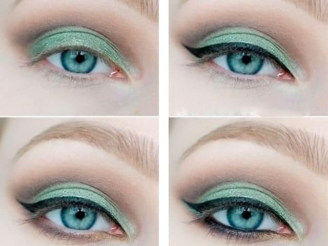 Тени для голубых, зеленых и серых глаз для блондинок
